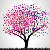 Bunter Baum lizenzfreie abbildung