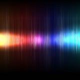 Bunter Beleuchtungs- und Musikwellenhintergrundvektor vektor abbildung