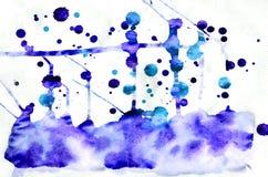 Bunter blauer Aquarellhintergrund für Tapete Aquarell bri Stockfotografie