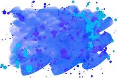 Bunter blauer Aquarellhintergrund für Tapete Aquarell bri Stockbilder