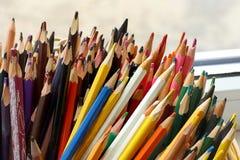 Bunter Bleistiftstapel Lizenzfreie Stockfotos