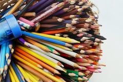 Bunter Bleistiftstapel Lizenzfreies Stockfoto