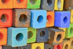 Bunter Blockhintergrund Lizenzfreies Stockbild