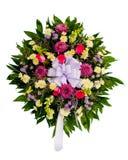 Bunter Blume Wreath lizenzfreies stockfoto