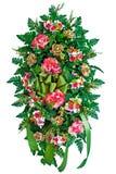 Bunter Blume Wreath lizenzfreie stockbilder