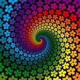 Bunter Blumen-Spirale-Hintergrund Lizenzfreies Stockbild