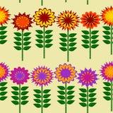 Bunter Blumen-und Stamm-Illustrations-Vektor-Hintergrund Lizenzfreie Stockbilder