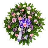 Bunter Blumenanordnung Wreath für Begräbnisse lizenzfreies stockbild