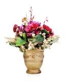 Bunter Blumenblumenstrauß lokalisiert auf weißem Hintergrund stockbild