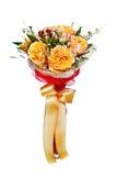 Bunter Blumenblumenstrauß lokalisiert auf weißem Hintergrund lizenzfreies stockbild