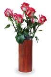 Bunter Blumenblumenstrauß vom Roseanordnungsmittelstück Lizenzfreies Stockbild