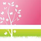 Bunter Blumenhintergrund stock abbildung