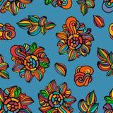 Bunter Blumenhintergrund, Tapete, Muster stock abbildung