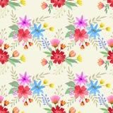 Bunter Blumenmuster-Textilhintergrund vektor abbildung