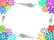 Bunter Blumenrahmenhintergrund Vektor Abbildung