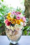 Bunter Blumenstrauß der Rosen Lizenzfreie Stockbilder
