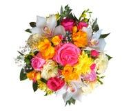 Bunter Blumenstrauß lokalisiert Lizenzfreies Stockbild