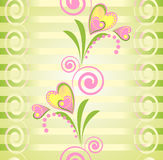Bunter Blumenvektornahtloses Muster Stockbild