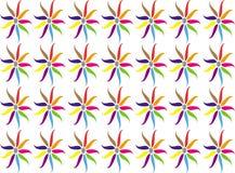 Bunter Blumenzusammenfassungshintergrund Lizenzfreie Abbildung
