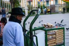 Bunter bolivianischer Basar in La Paz lizenzfreie stockfotos