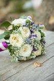 Bunter Brautblumenstrauß Stockbild