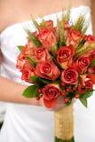 Bunter Brautblumenstrauß Stockfoto