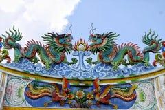 Bunter chinesischer Tempel Lizenzfreie Stockfotos