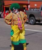 Bunter Clown Stockbild