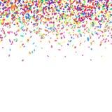 Bunter Confetti-Hintergrund stock abbildung