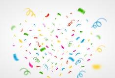 Bunter Confetti-Hintergrund Vektor Lizenzfreie Stockfotografie