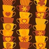 Bunter Cup-Hintergrund Stockbild