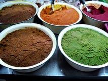 Bunter Curry Stockfotos