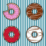 Bunter Donut vier Lizenzfreie Stockfotos