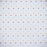 Bunter Dots Fabric Texture Lizenzfreie Stockfotos