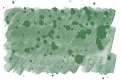Bunter dunkelgrüner Aquarellhintergrund für Tapete Helle Illustration des Aquarells Farb Lizenzfreie Stockfotografie