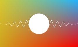 Bunter einfacher Hintergrund mit weißen Wellen, Technologie formt Vektorabstrakte Abbildung Lizenzfreies Stockbild