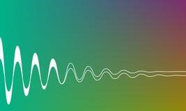 Bunter einfacher Hintergrund mit weißen Wellen, Technologie formt Vektorabstrakte Abbildung Lizenzfreie Stockfotografie