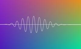 Bunter einfacher Hintergrund mit weißen Wellen, Technologie formt Vektorabstrakte Abbildung Stockfotografie