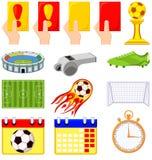 Bunter Elementsatz der Karikaturfußballmeisterschaft 14 Lizenzfreies Stockbild