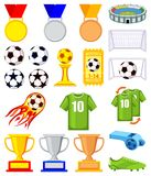 Bunter Elementsatz des Karikaturfußballs 20 Lizenzfreie Stockbilder
