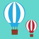 Bunter Fallschirm auf einem grauen Hintergrund Hakensatz Stockbilder