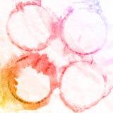 Bunter Farbenhintergrund, Einklebebuchskizze beschriftend Stock Abbildung