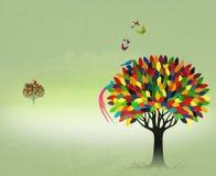 Bunter feenhafter Baum stock abbildung