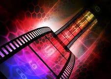 Bunter Filmstreifen Stockfotos