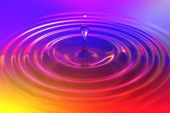 Bunter flüssiger Rückgang oder Farbenrückgang, der auf Farboberfläche fällt vektor abbildung
