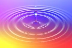 Bunter flüssiger Rückgang oder Farbenrückgang, der auf Farboberfläche fällt lizenzfreie abbildung