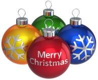 Bunter Flitter der frohen Weihnachten (Mieten) Stockfoto