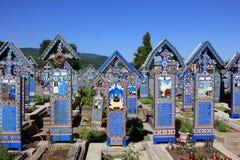 Bunter fröhlicher Kirchhof in Sapanta, Rumänien Stockfoto
