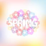 Bunter Frühlingshintergrund stock abbildung