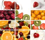 Bunter Fruchtaufbau Lizenzfreie Stockfotos